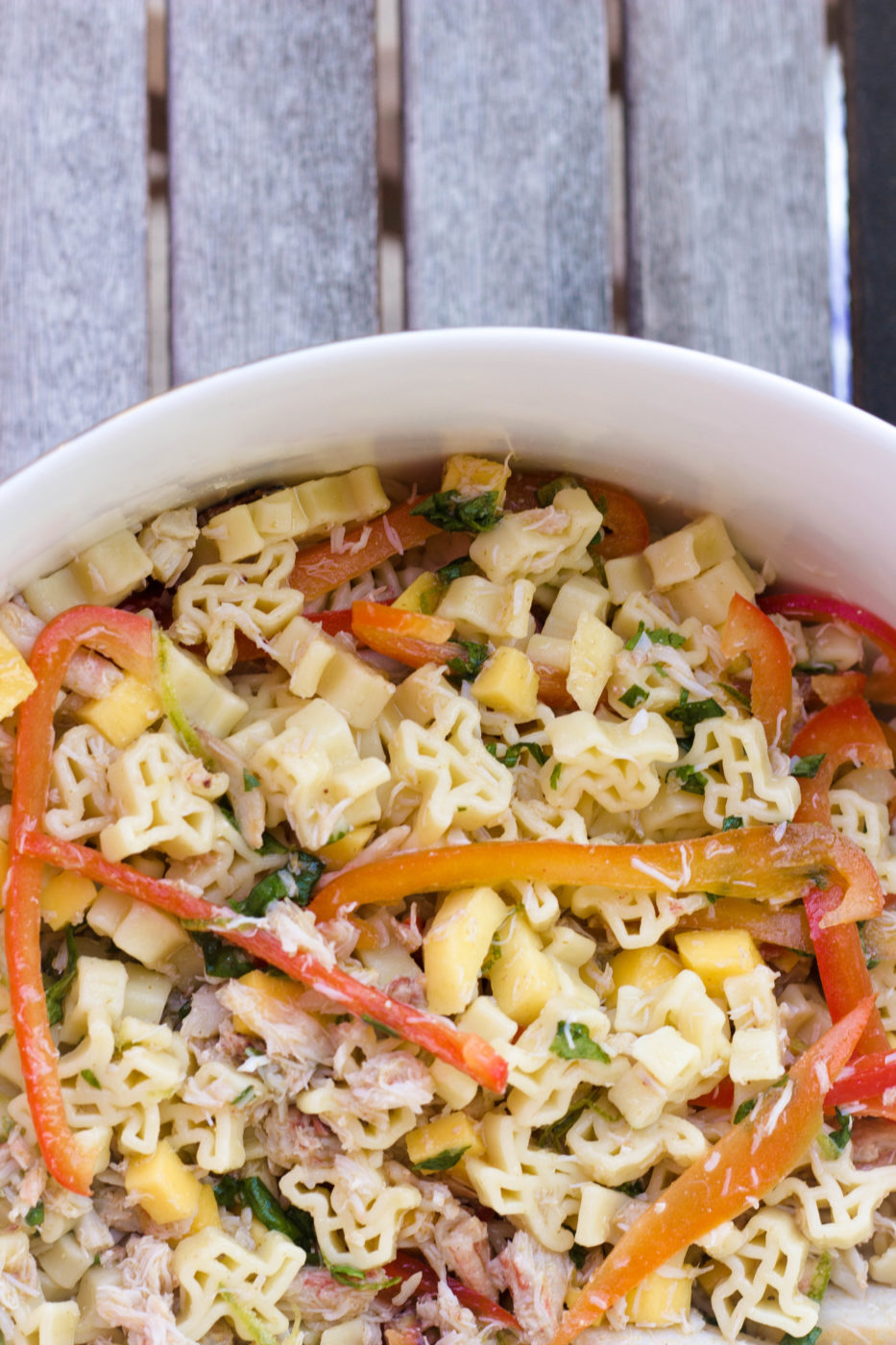 Summery Crab Pasta Salad Recipe