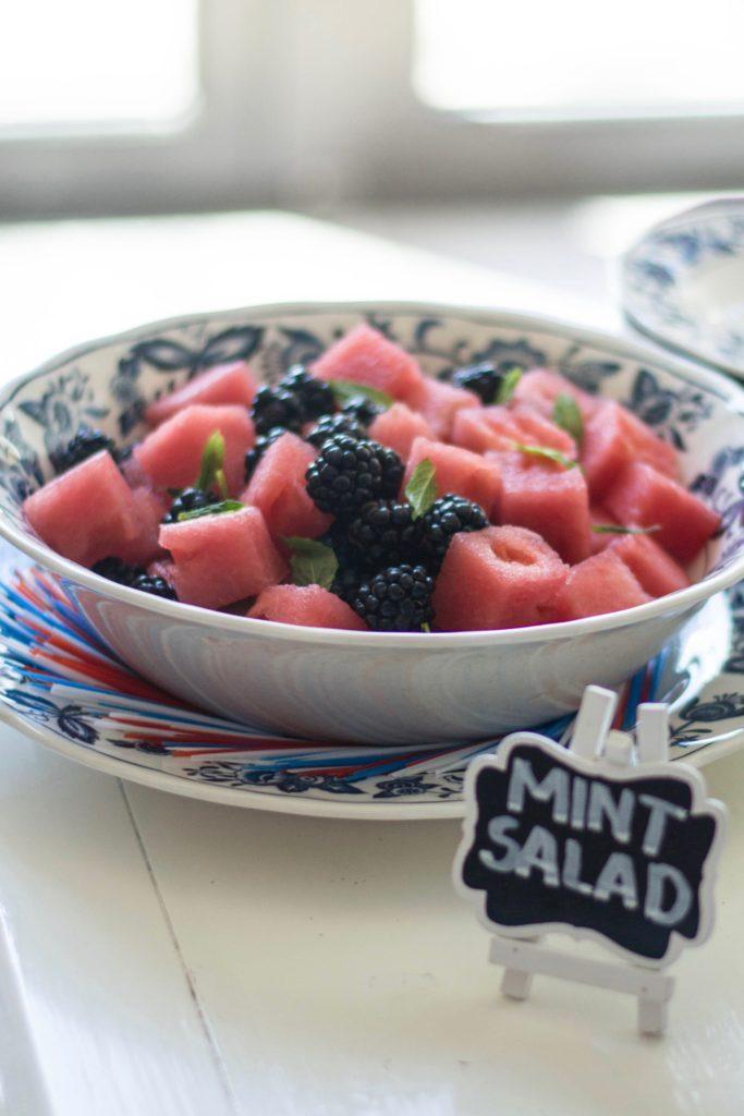 Watermelon, Blackberry, and Mint Salad