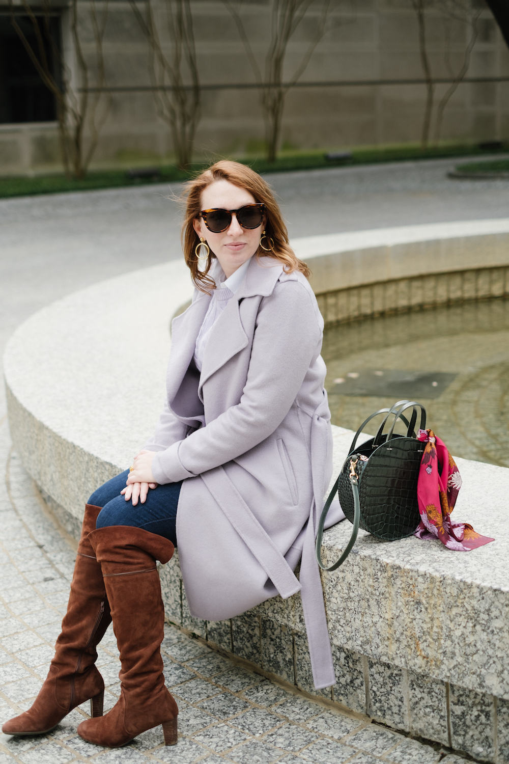Comfy Over the Knee Boots for Walking | Best OTK Boots for Winter | Comfiest Jeans for Girls with Curves | Winter Outfit Idea