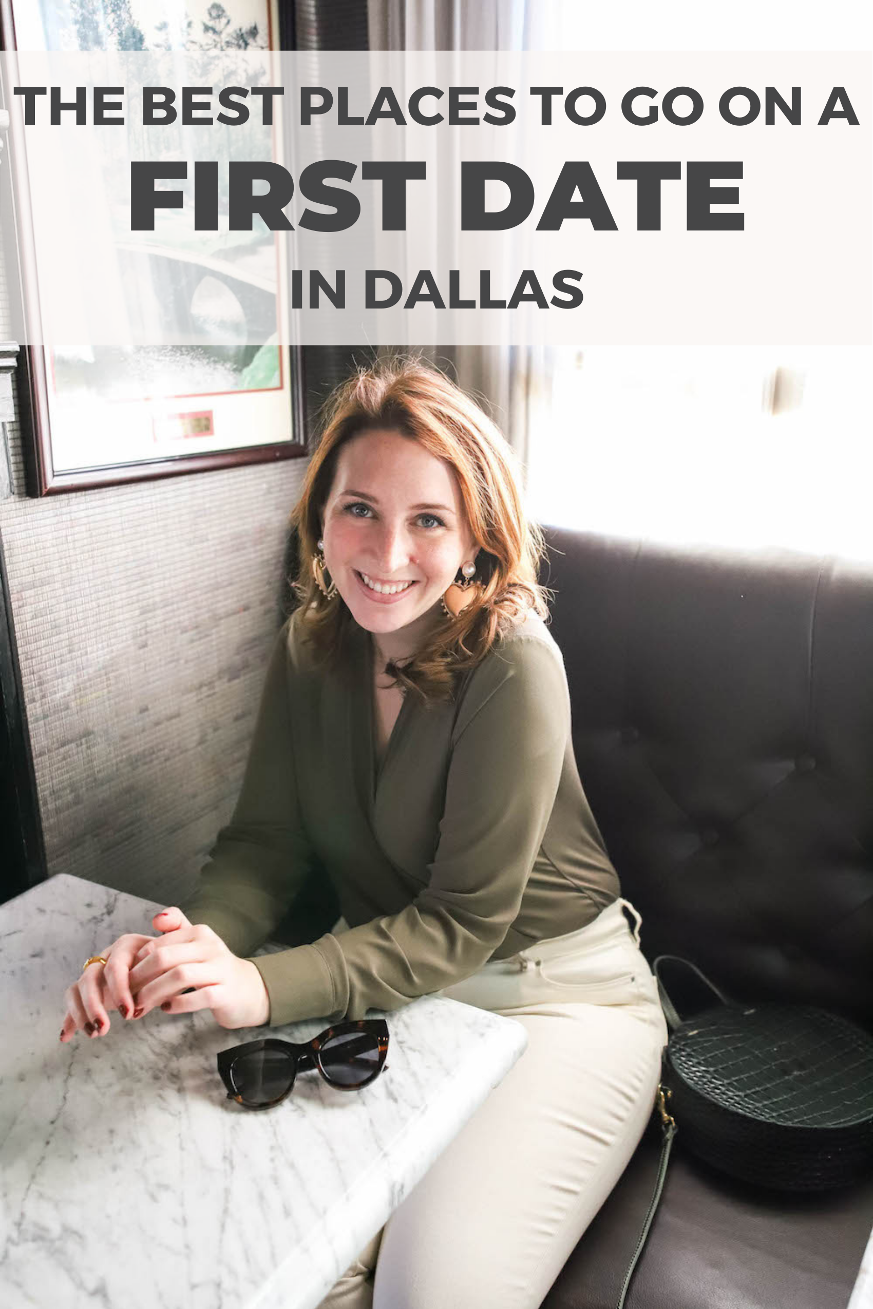 The best places to go on a first date in Dallas, TX graphic for Pinterest