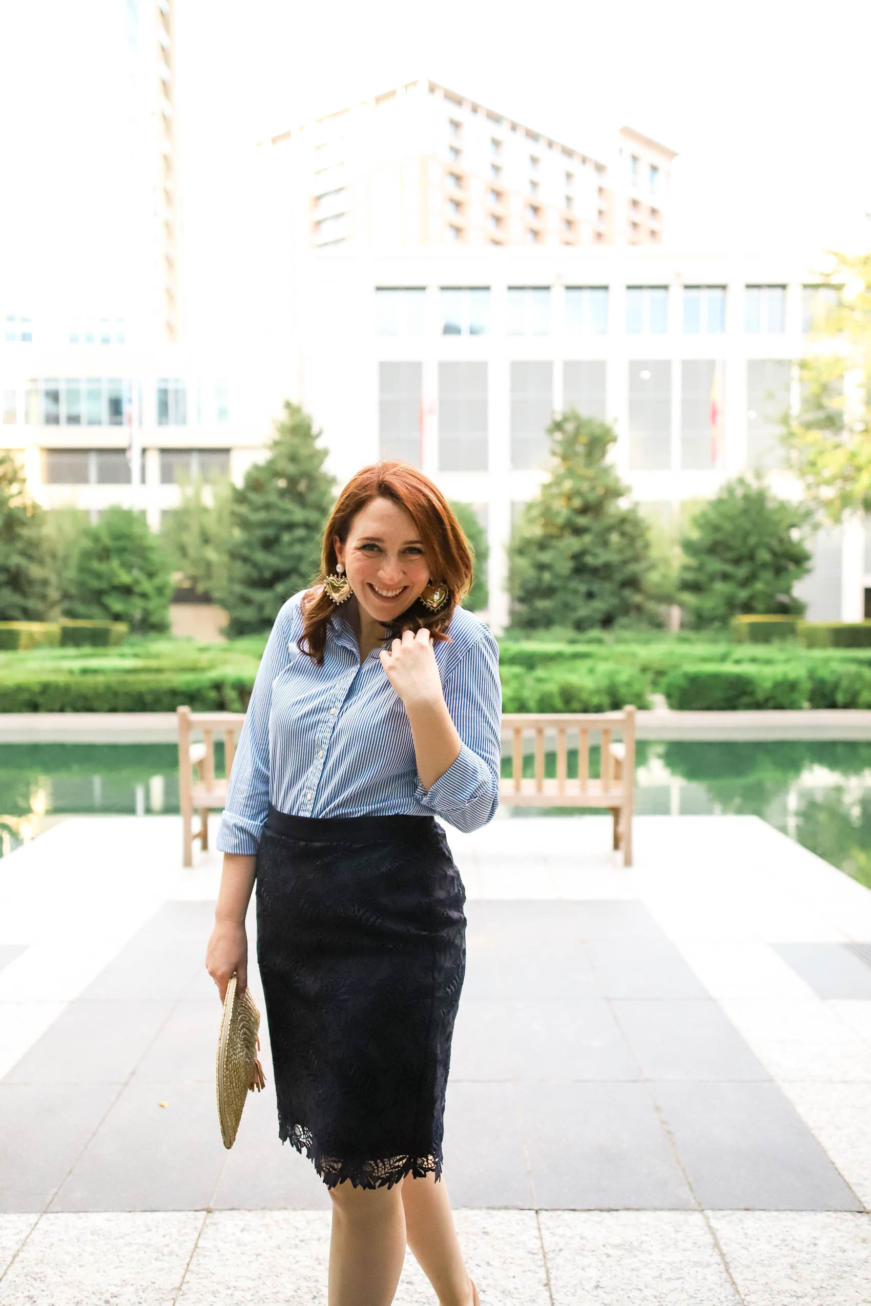 Best Colors to Wear for Redheads | Cute Workwear for Spring | Spring Work Outfit #rehead #springlook #springstyle