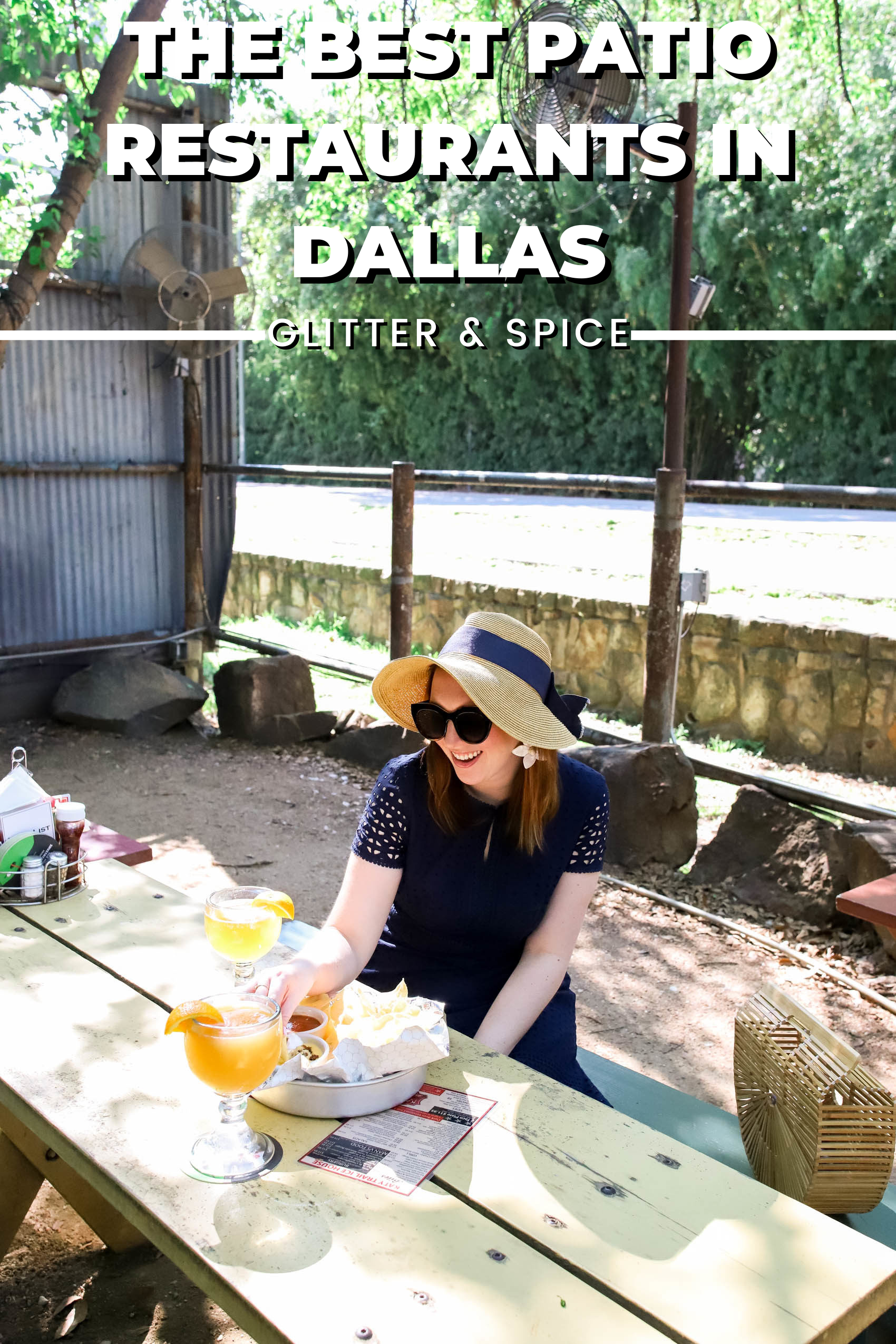 The Best Patio Restaurants in Dallas graphic for Pinterest