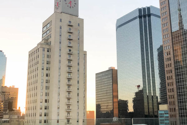 Dallas Travel Guide - Dallas skyline from Waterproof, the rooftop bar at the Statler hotel