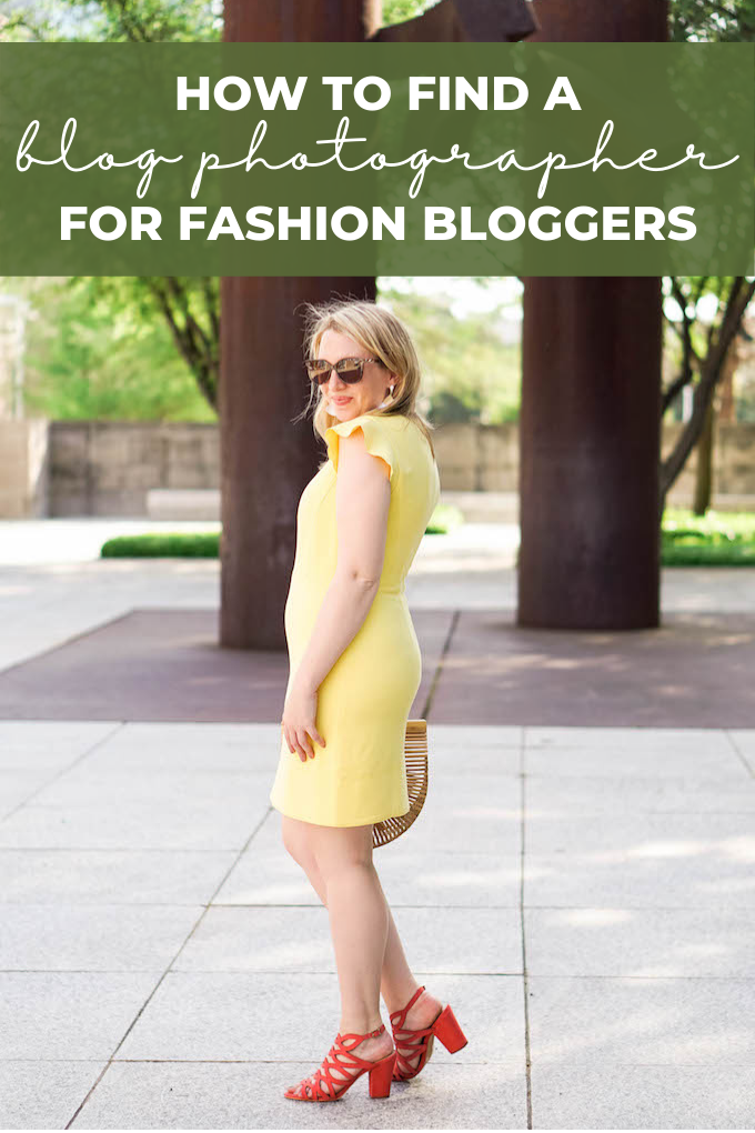 How to find a blog photographer for fashion bloggers Pinterest graphic