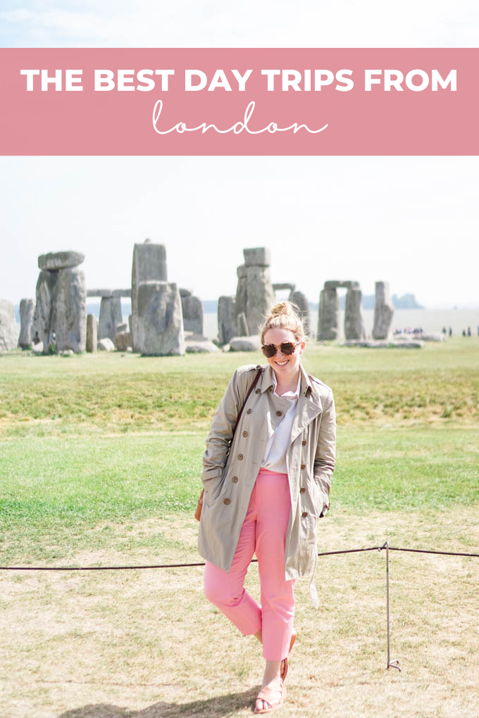 The best day trips from London Pinterest graphic