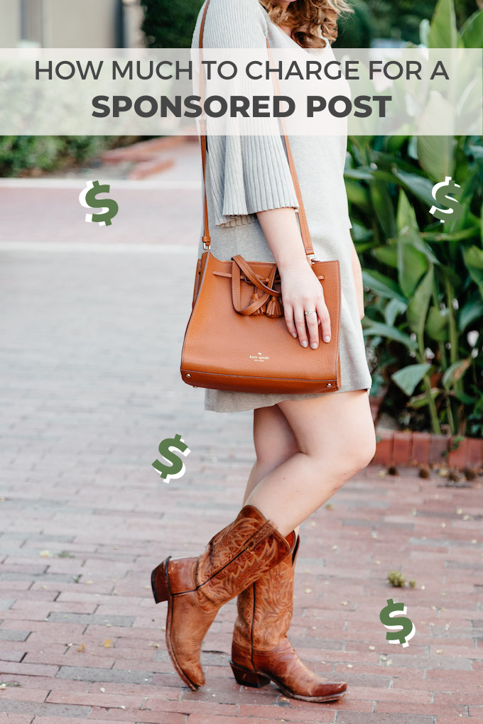 How much to charge for a sponsored post Pinterest graphic