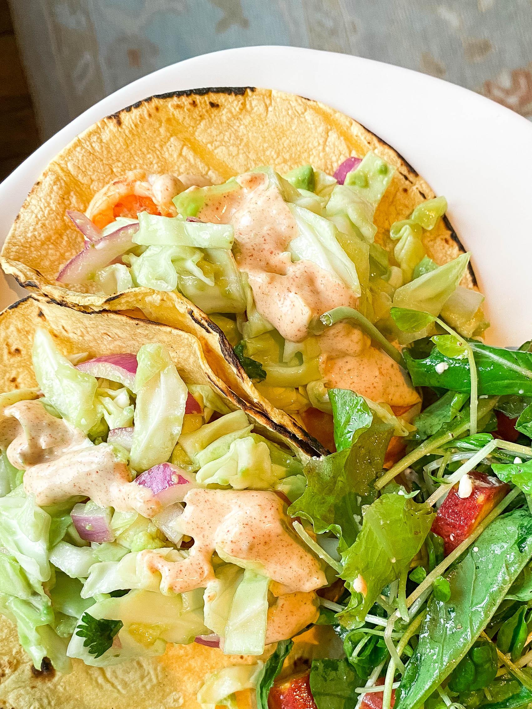 Delish's Cilantro Lime Shrimp Tacos