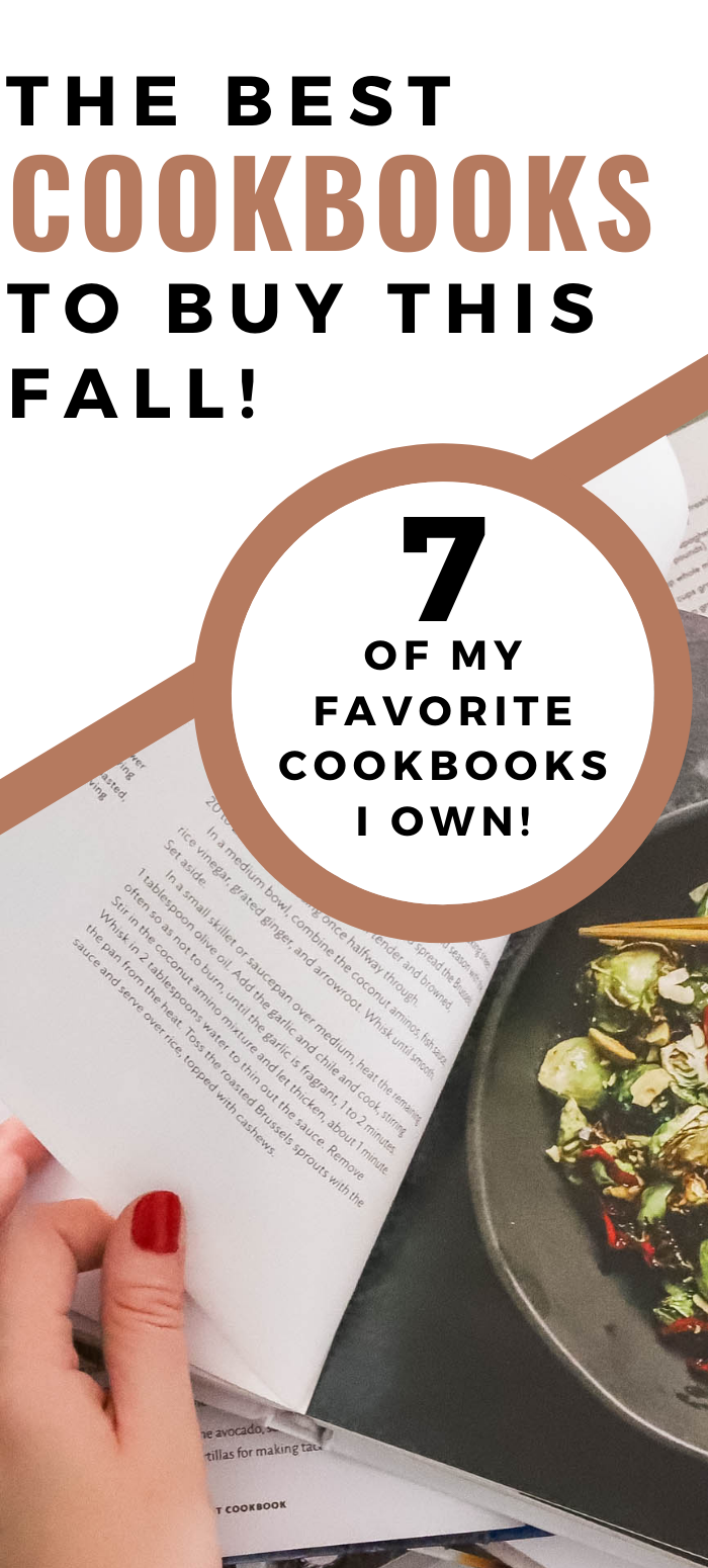 The best cookbooks to buy this fall Pinterest graphic