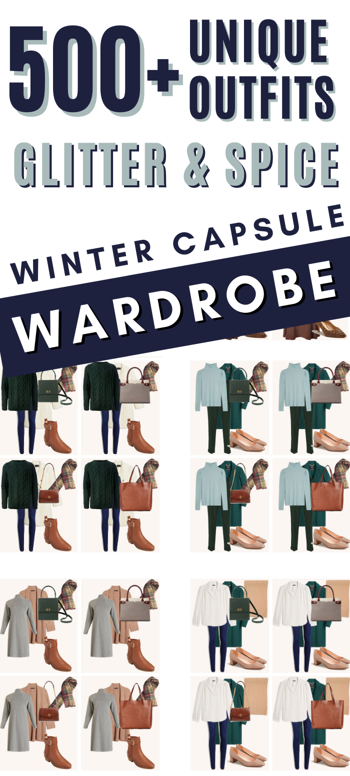 Winter Capsule Wardrobe Pinterest image