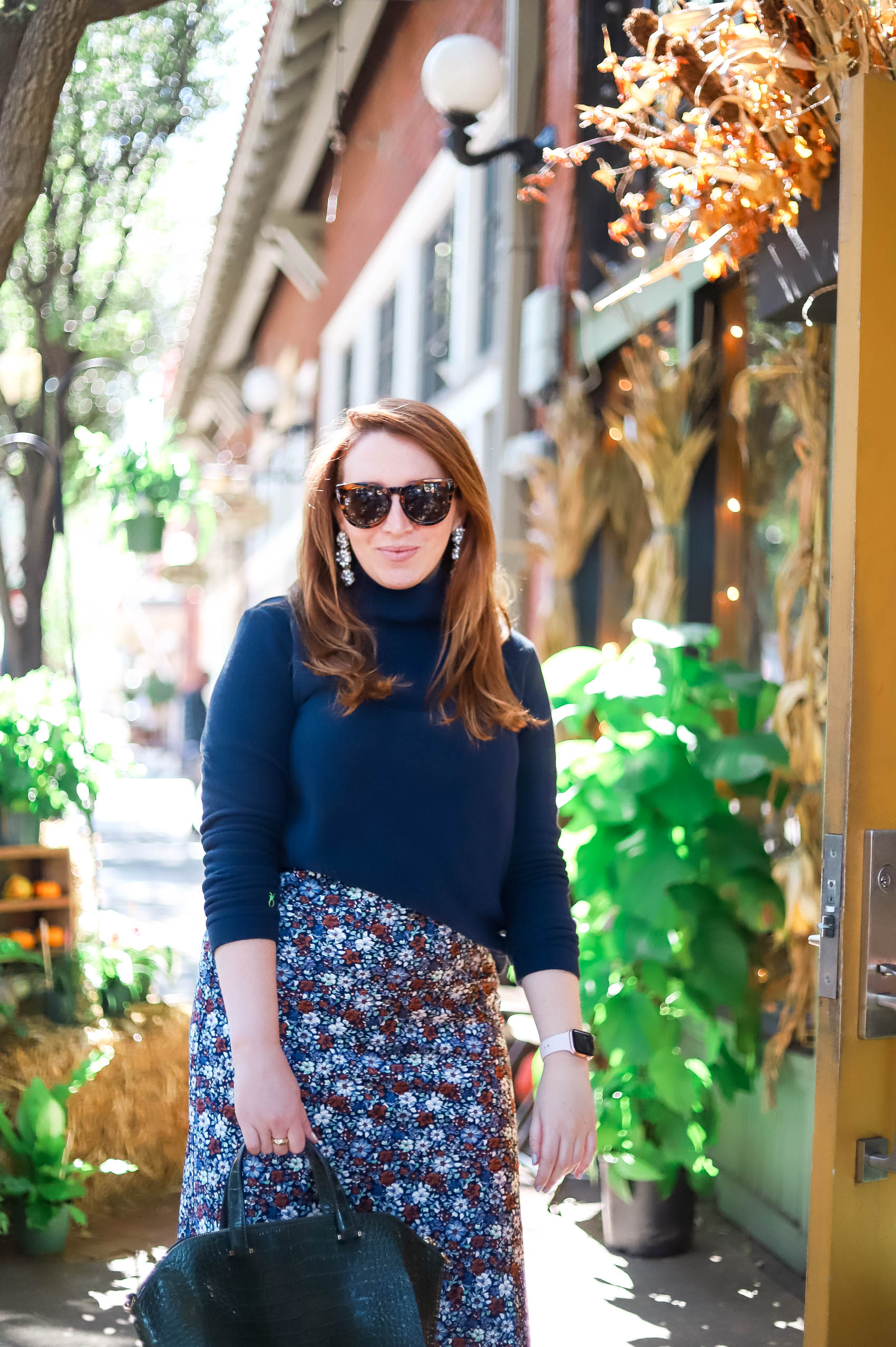A blue outfit to celebrate the outcome of the 2020 election and thoughts on what a woman in the white house means | Fall outfit inspiration