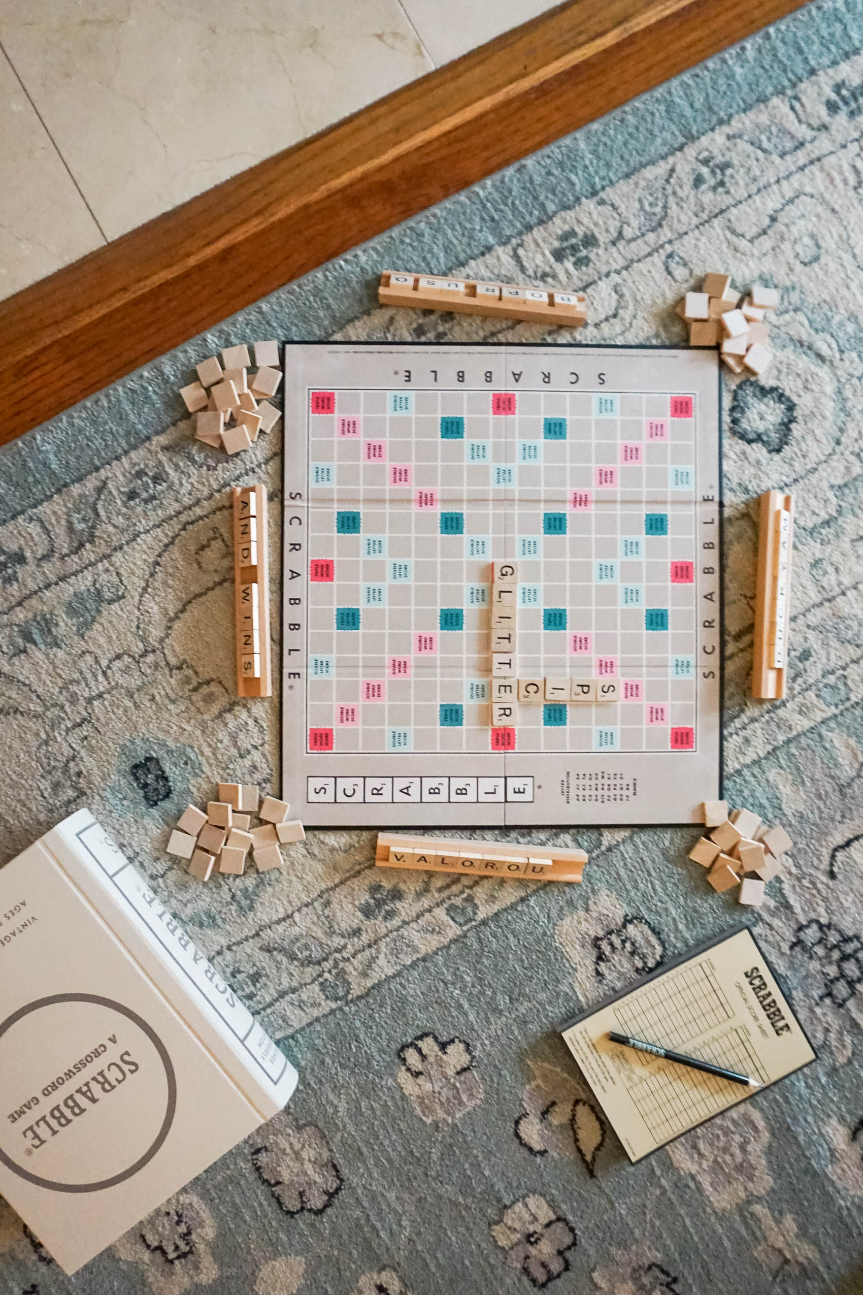 Scrabble is one of the best games for a game night with family