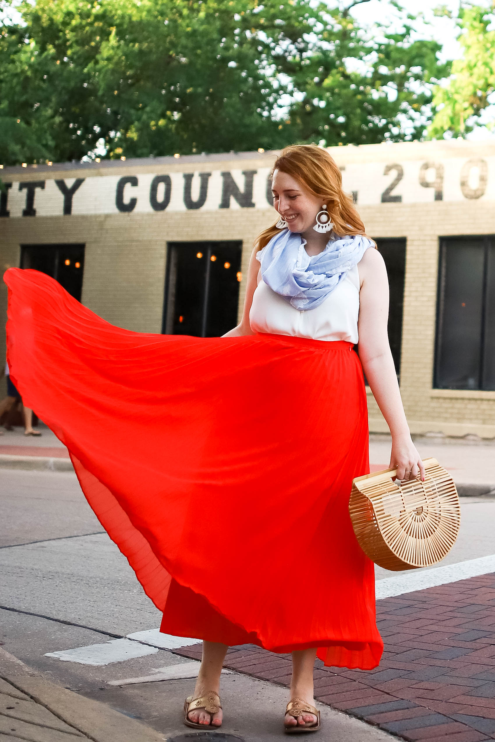 Dancing girl in red skirt for 31 things I've learned in 31 years